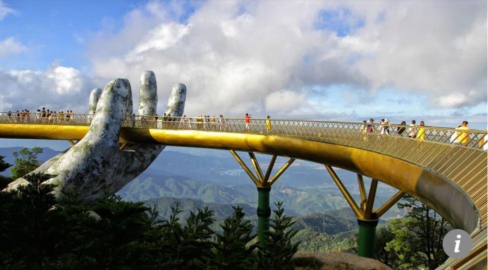Cầu Vàng - Cầu Bàn Tay tại Đà Nẵng